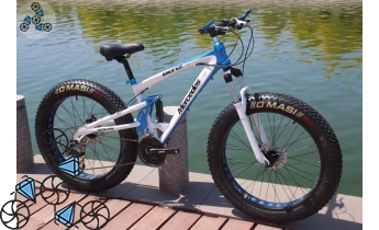 Велосипед FatBike Mercedes M3 White Blue