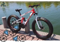 Велосипед FatBike Mercedes M3 White Red
