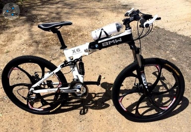 4670770123ed4 Купить велосипед BMW X6 White&Black складной на литых дисках в ...
